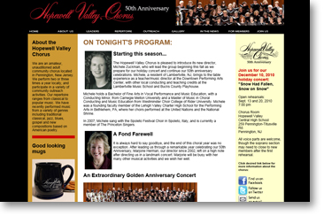 Hopewell Valley Chorus website